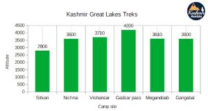 Kashmir Great Lakes Trek Difficulty